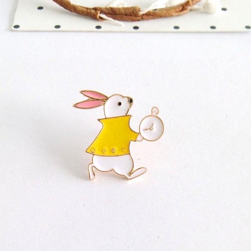Jewelry Sets & More Cute Alice Wonderland Castle Cat Crown Princess Heart Teapot Rabbit Cake Hat Funny Cool Enamel Jean Brooch Pin Button Badge