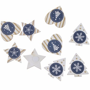 Pure white series Christmas star tree heart decor wooden wall stickers wholesale