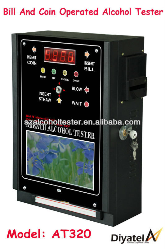 Alibaba Wholesale Profitable Bill And Coin-operated Breath Alcohol Tester/Alkohol Breath Detector For Worldwide Sale AT320