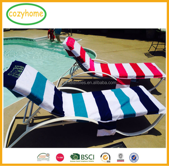 Attrayant 26 By 82 Inch Fashion Lounge Chair Beach Towel With Fitted Pocket Top Terry  Chaise