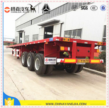 Used container trailers with semi chassis from yangjia for sale