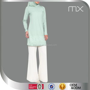 New Model Muslim Abaya 2016 Women Chiffon Long Muslim Apparel With Embroidery Women Muslim Suits