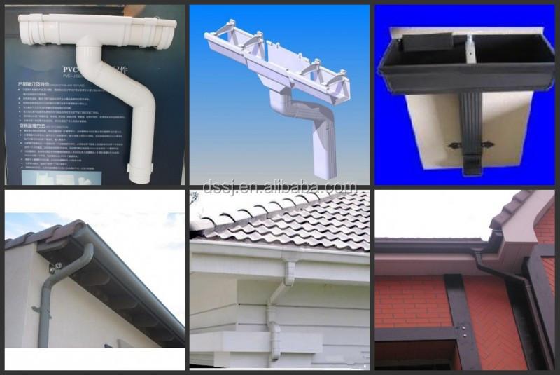 Pvc cuadrados cuneta canaletas techos lluvia del pvc - Canalones de plastico ...