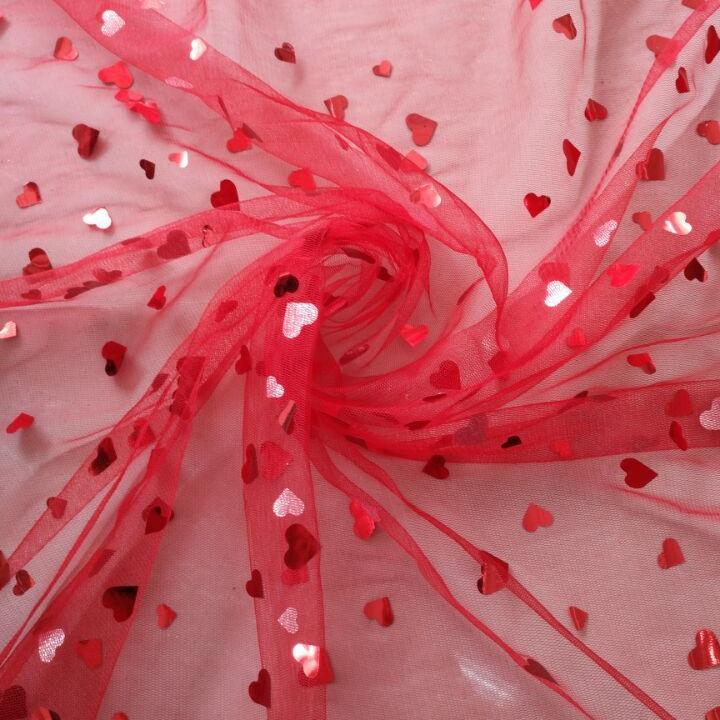 100% polyester Lưới Bóng Vải Chữa Lành bạc Sequin cho Công Chúa Váy