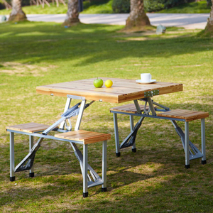 Modern Style Solid Garden Afternoon Teatime Wooden Dining Table Coffee Table