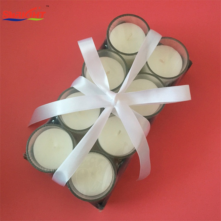 Nordic Simple Design Decorative Paraffin Wax Shrink Pack Glass Jar Candles