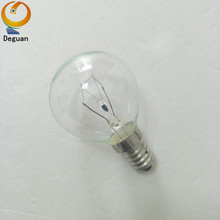Amazon retailer round shape G45 clear glass incandescent light bulb 220v 25w