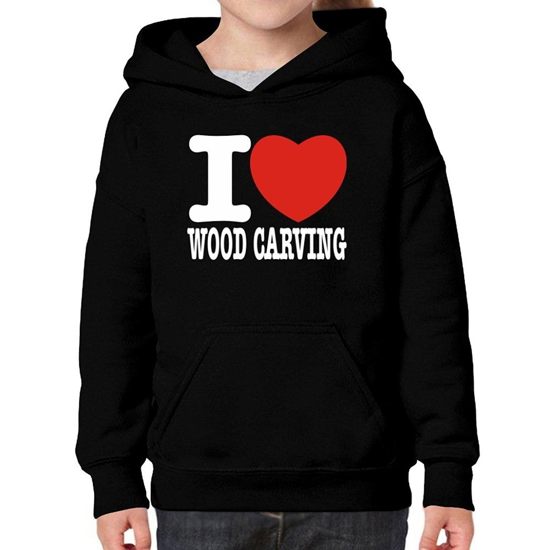 Teeburon Love Wood Carving Girl Hoodie