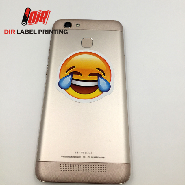 Hot selling 2017 self adhesive vinyl pvc cartoon custom emoji book phone paper sticker