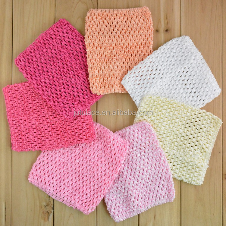Baby Girl 12 Inch Tutu Tube Tops Chest Wrap, Wide Crochet headbands IN STOCK