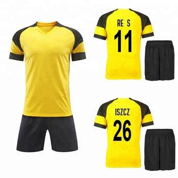 a367bc4722852 2018 2019 Novo Modelo Famoso Clube Costume Ostenta o Jérsei de futebol  Amarelo E Preto Camisa