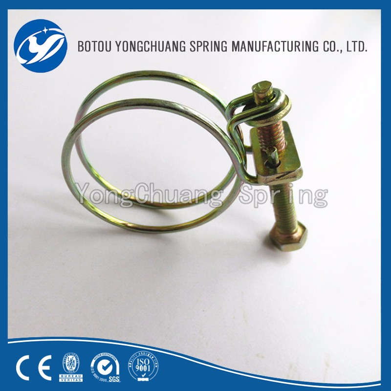 Plastic Hose Clamps >> Wire Formed Spring Pipe Clamps Double Wire Hose Clamp ...