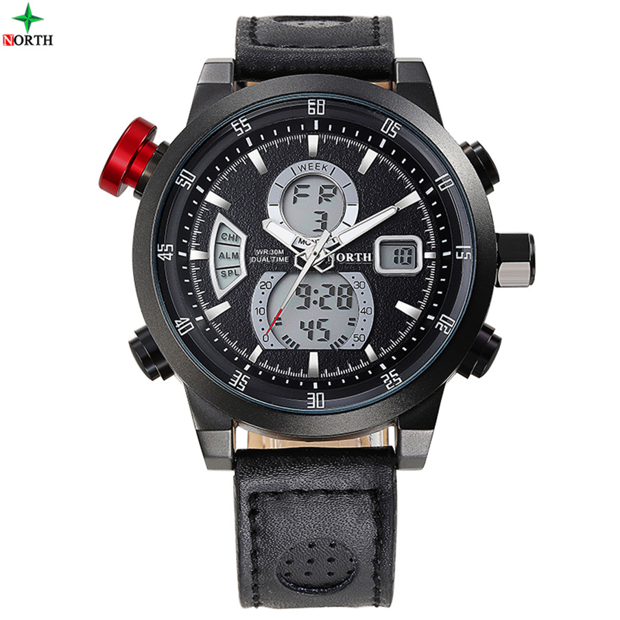 Custom Label Digital Analog Quartz Best Men Wrist Watch