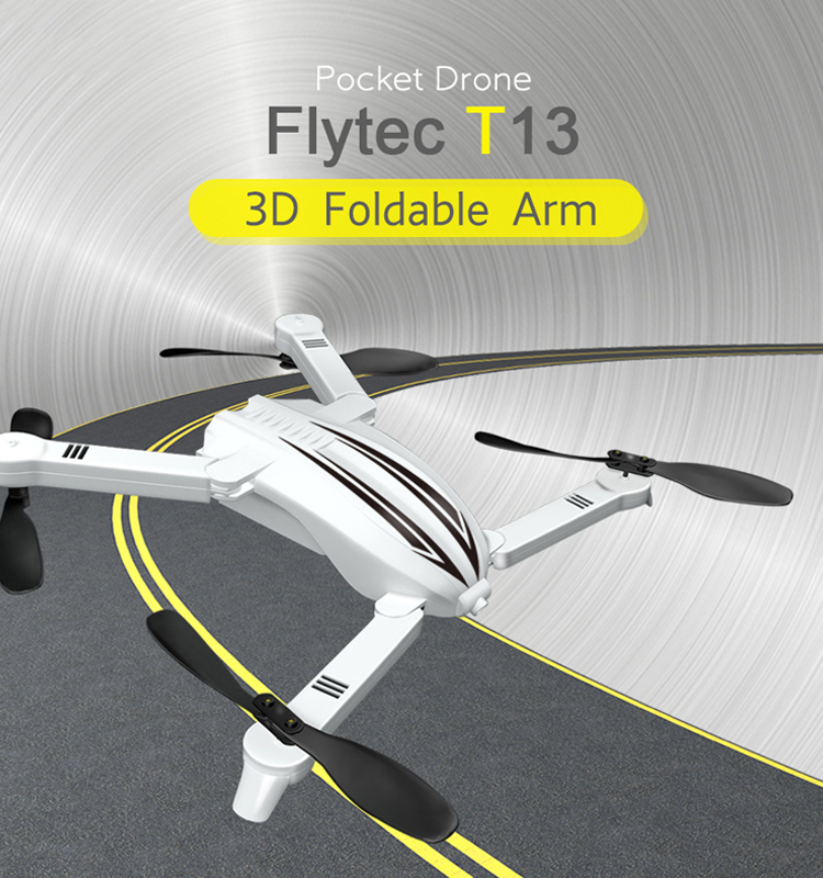 1. T13_White_Foldable_Mini_Selfie_Drone_with_720P_Wide_Angle_HD_Camera