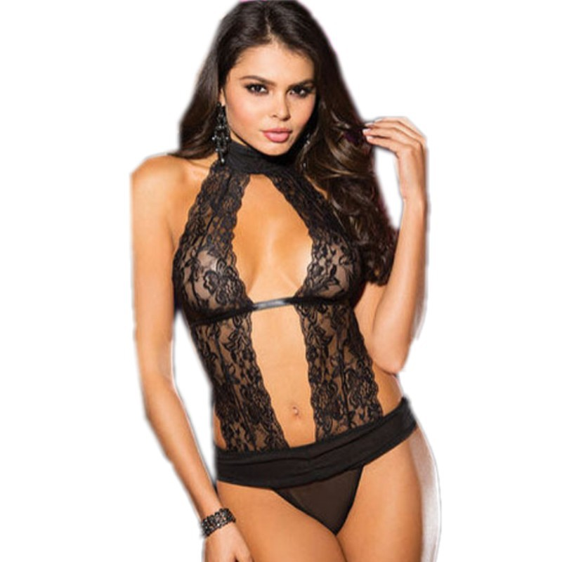 90ededef72 Get Quotations · Sexy lingerie hot 2015 new inviting stretch lace fabric  and black mesh teddy lingerie women sleepwear