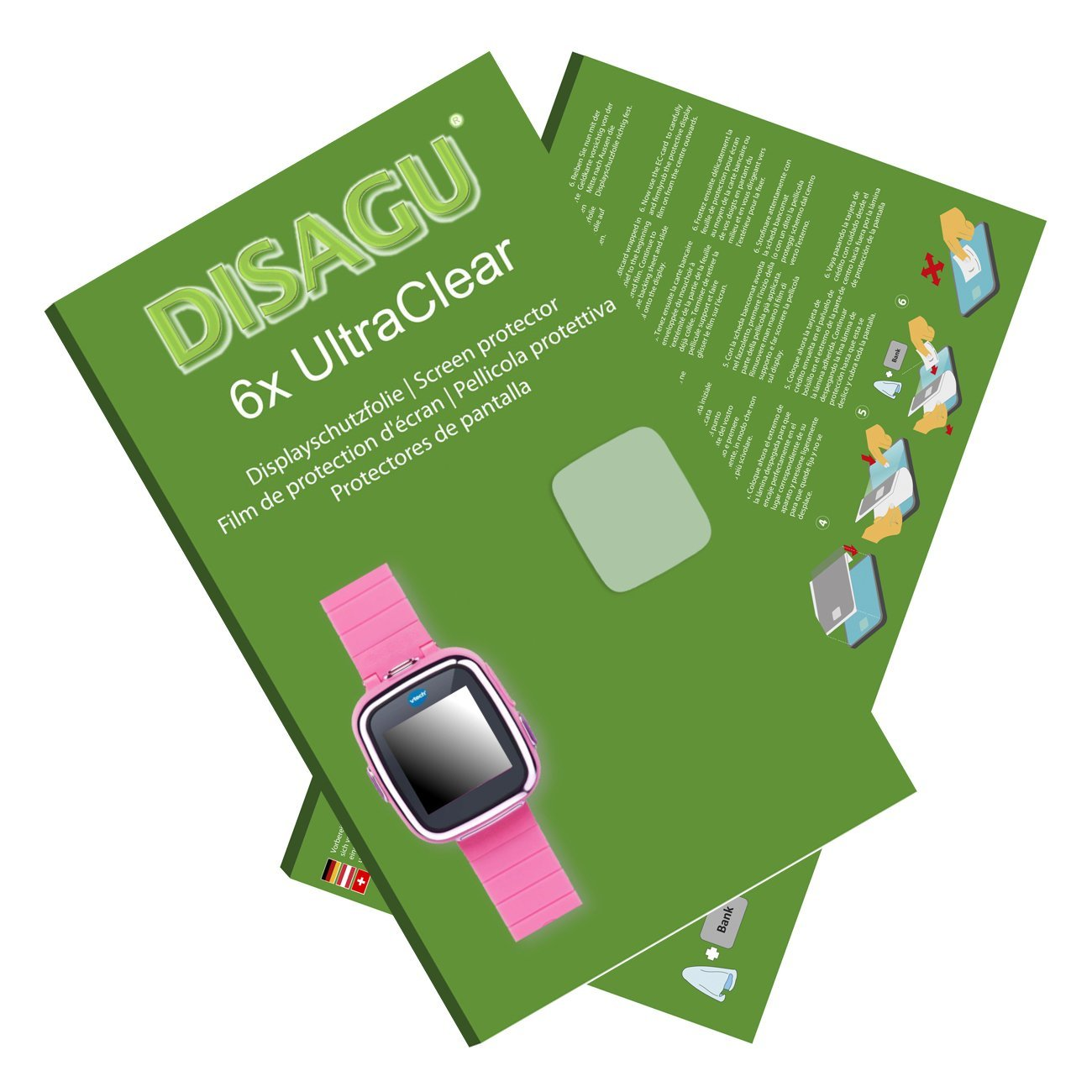 DISAGU 6x Ultra Clear Screen Protector for Vtech Kidizoom Smart Watch 2
