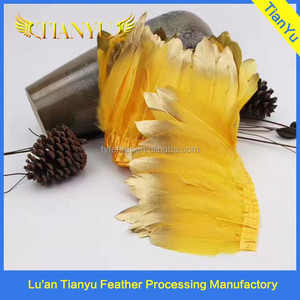 goose feather fringe 10-15cm beautiful and charming dress/party decoration goose feather fringe
