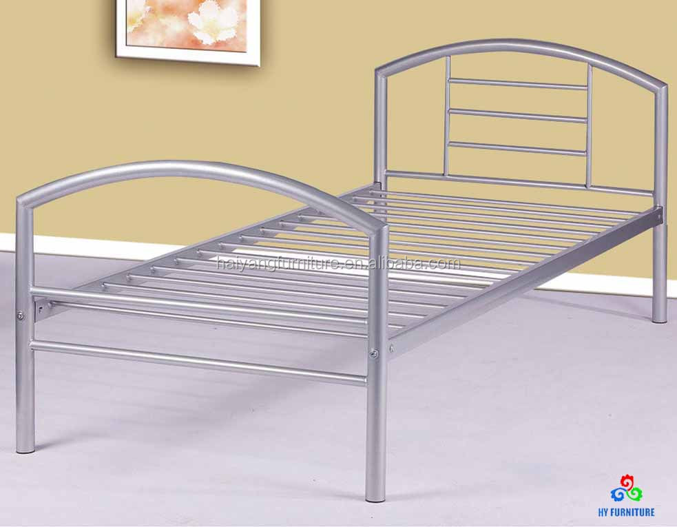 Single platform bed metal bed frame wholesale