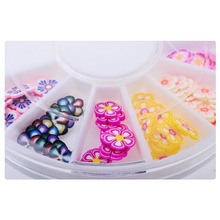 Colored Flower 3d nail art bijoux ongles strass ongles decoracion de unas nail glitter decorazioni unghie