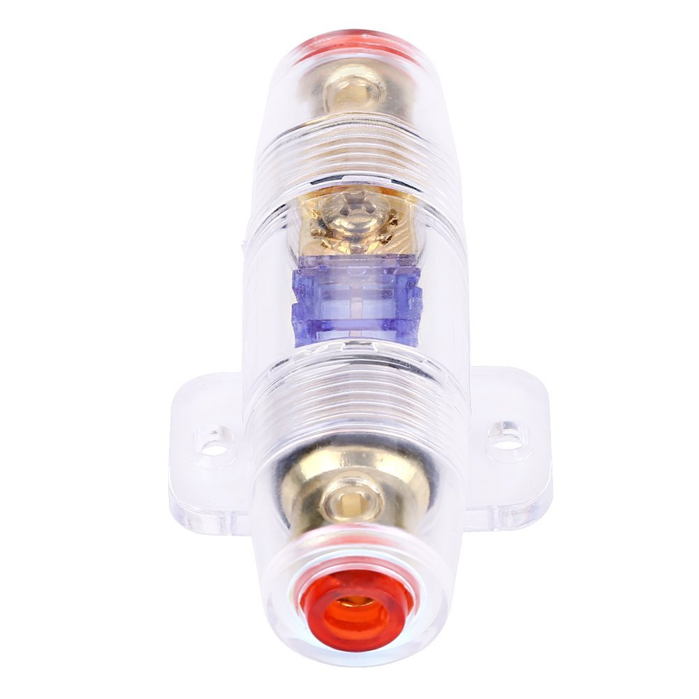 get quotations · qiilu 8 gauge car auto vehicle stereo audio fuse box  holder block with 60amp fuse