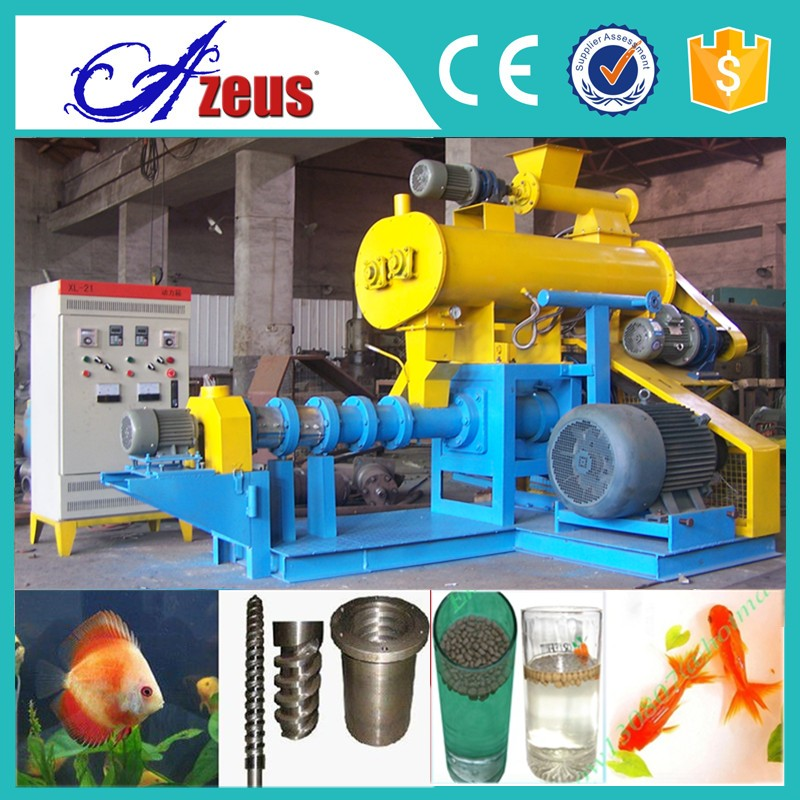 Factory provide flower horn fish feed extruder machine