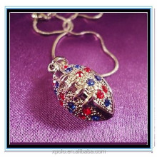 XP-MP-099394 FACTORY PRICE Wholesale Rhinestone sport ball baseball softball basketball necklace
