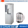 Floor standing hot and cold stainless steel water dispenser