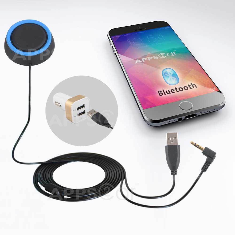 Flexible Bluetooth Car Kit 4 0 With 4 Hidden Button Display Mp3