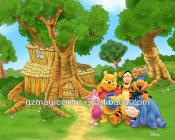 Winnie The Pooh Photo Wall Mural For Kids Part 82