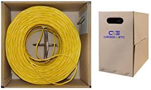 C&E 1000 feet 23 AWG CAT6, 550-MHz Stranded Bulk Cable, 4-Pair, PVC, Yellow