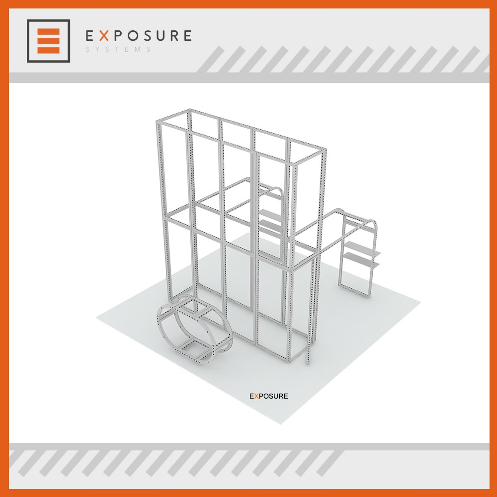 Exhibition display Exhibition Booth 6X3m Aluminum Modular Display Stand M series