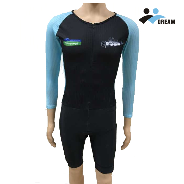 DREAM SPORT 2017 OEM custom high quality mans speed skating skinsuit with Italy fabric