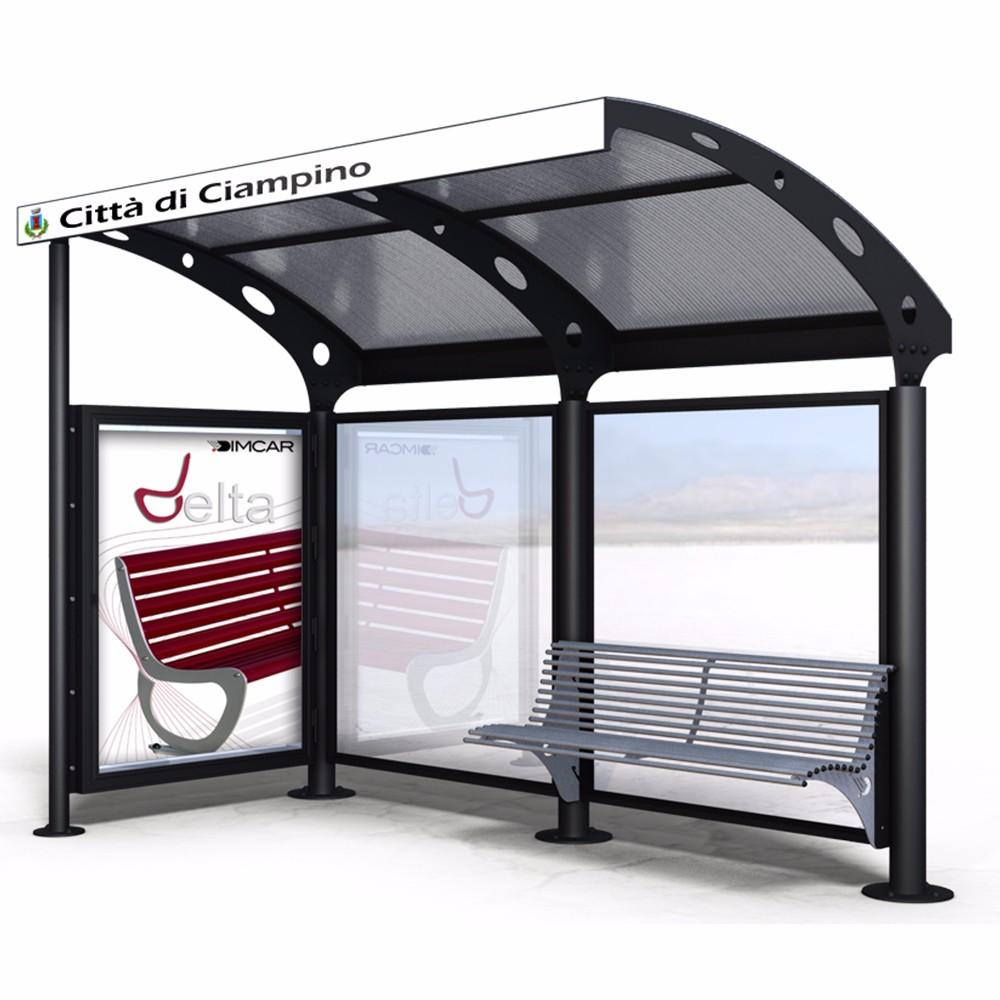 product-Metal Material Solar Powered Outdoor Bus Shelter-YEROO-img-5