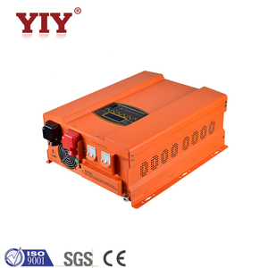Solar off grid energy storage power system with high efficiency pure sine wave compact DC AC solar inverter battery charger