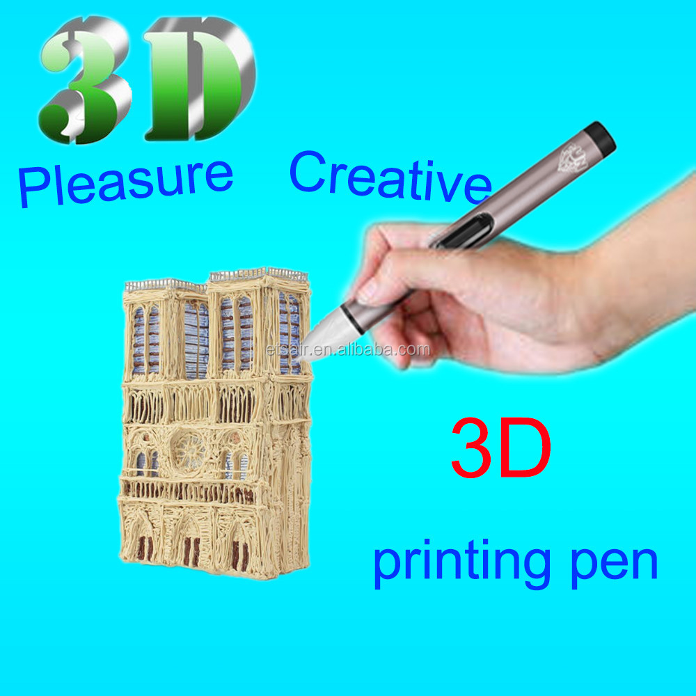 Newest Christmas Promotional 3D Printing Pen Crafting Doodle Drawing Arts Printer Modeling PLA/ABS Filament