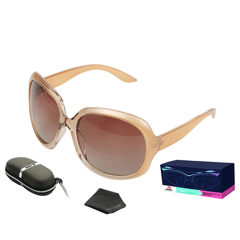 413bd69031c2 Get Quotations · AFARER Oversized Sunglasses for Womens Designer Polarized  Sunglasses Fashion Sunglasses UV400 Protection Sunglasses 3113