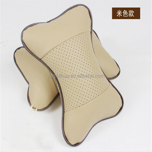 Hot selling promotional car neck pillow PU leather inflatable soft car seat head neck rest pillow