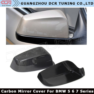 For BMW 5 6 7 Series F07 F06 F12 F13 F01 Carbon Fiber Rear View Mirror Cover Add On Style