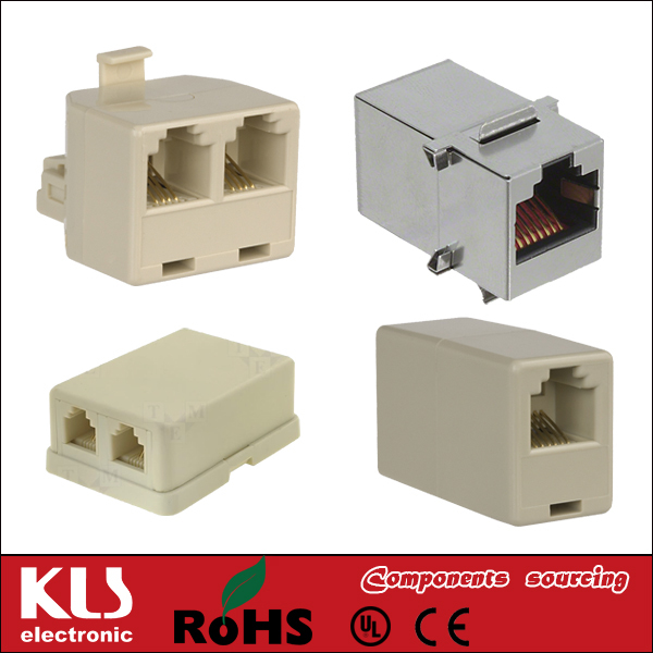 Good quality RJ11 splitter adapter UL CE ROHS 043 KLS Brand