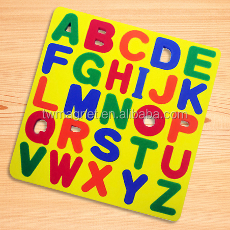 magnetic eva foam alphabet puzzle for kids education fridge magnet letters