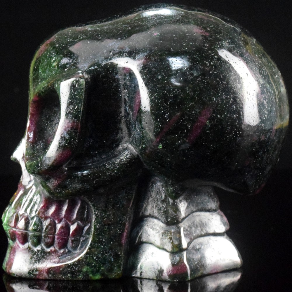 5 inch natural carved ruby gemstone crystal alien skulls for sale