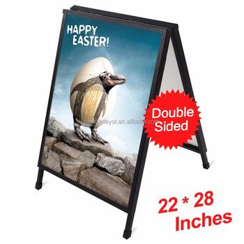 22 X 28 Slide In Folding A Frame Sidewalk Curb Sign Double Sided