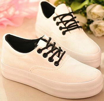 be690ee764df zm10220a 2016 korean style platform shoes sneakers women casual canvas shoes