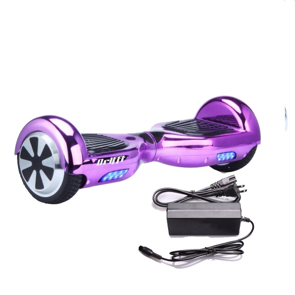 "Purple Chrome 6.5"" UL 2272 Certified Hoverboard - Electric Self-Balancing Scooter"