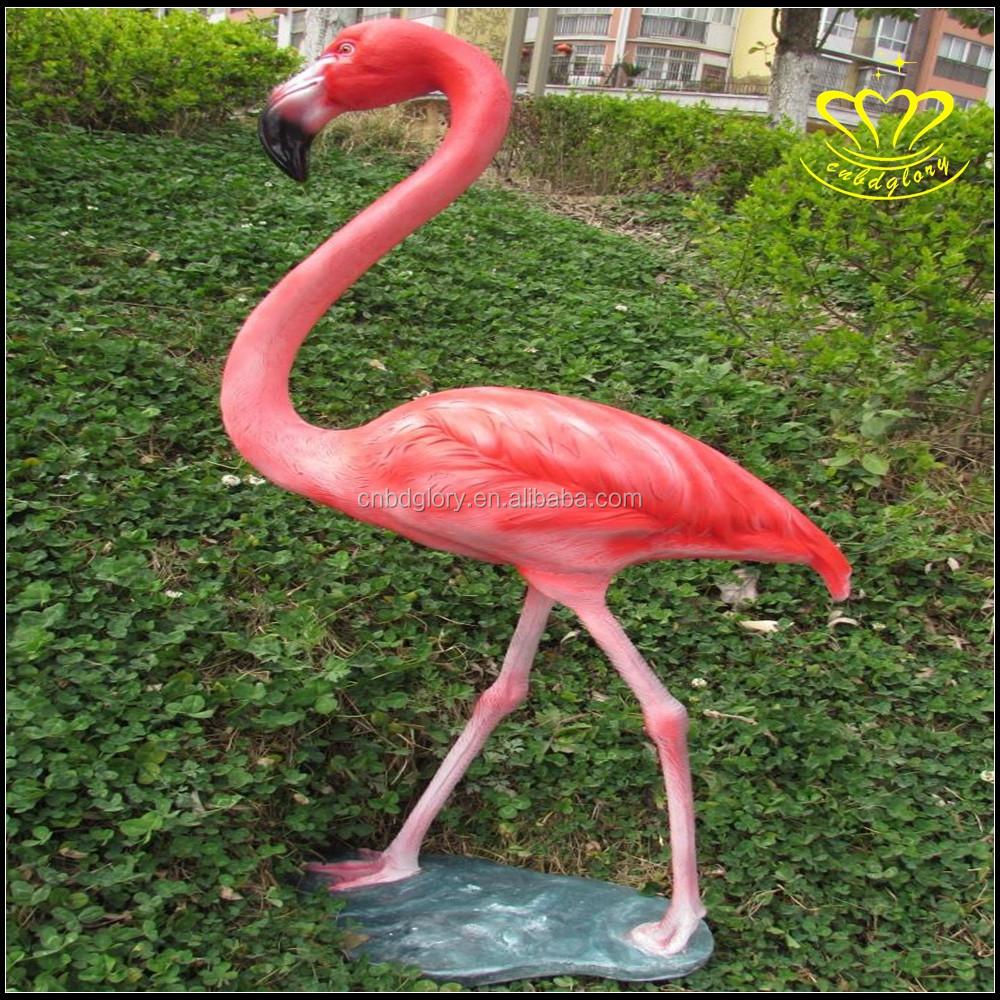 Pink Flamingo Garden Coastal Birds Resin Pool Lawn Statues ...
