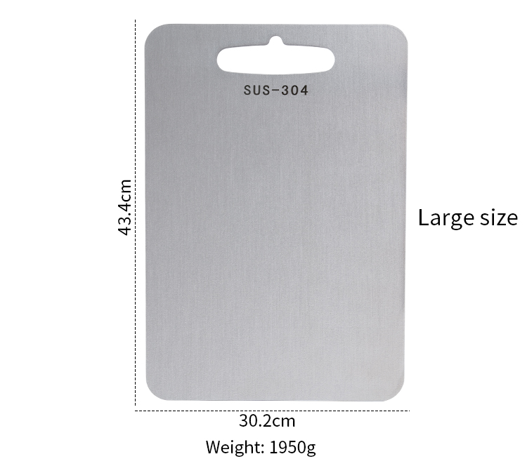 2019 New Healthy Food grade Stainless steel 304 cutting board