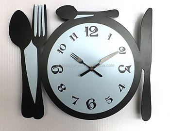 Modernkitchen Wall Clock Knife Fork Spoon Clocks - Buy Wall  Clock,Clock,Fork And Spoon Wall Clock Product on Alibaba.com