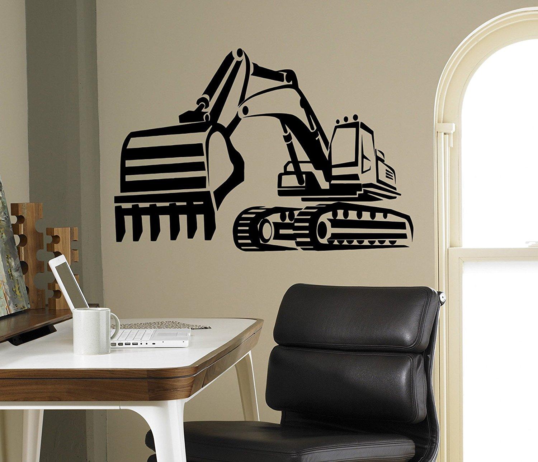 Buy Tractor Excavator Wall Vinyl Decal Farm Vinyl Sticker Kids