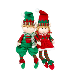 "12"" Red Cute Wholesale Cheap Stuffed Soft Plush Christmas Elf Toy for Gift"