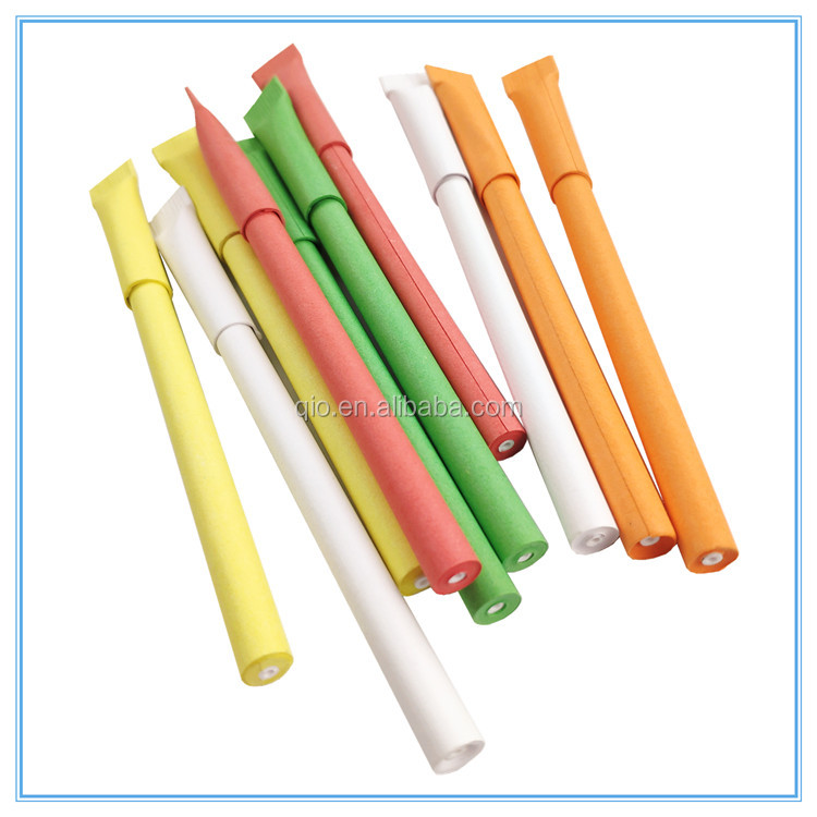 100% eco friendly recycled paper ball pen and paper pen with customized logo